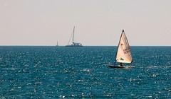Calm (lauracastillo5) Tags: calm ocean blue water sea seascape seashore coast sports boats ships landscape beach beautiful