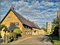 Church Street, Staverton (Jason 87030) Tags: village northant northamptonshire stmary vurgin church scene view houses stone cottages uk england clouds lighting may 2019