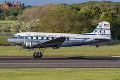 NC33611 Douglas DC-3 Pan American World Airways Prestwick 20.05.19 (Robert Banks 1) Tags: nc33611 douglas dc3 c47 dakota paa pan american world airways clipper tabitha may prestwick egpk pik