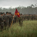 U.S. Marines participate in the opening ceremony for Exercise Southern Jackaroo
