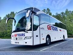 Lakeside Coaches of Ellesmere GB Tours Liveried Mercedes Tourismo BU18 YOK - Stafford 20/5/2019 (PaulPowys) Tags: bus coach stafford ellesmere lakesidecoaches gbtours tourismo mercedes bu18yok