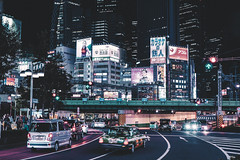 Tokyo City (Sandra Ahn Mode) Tags: tokyo japan asia streetphotography street streetlights nighttime night nightlights travel travelphotography traveldestination urban urbanphotography cars buildings officebuildings