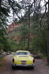 Halfway, Oak Creek Canyon (EllenJo) Tags: triptoflagstaff may2019 ellenjo karmannghia volkswagen mxp401 oakcreekcanyon arizona az may20 2019 pentaxks1 car aircooled sedona