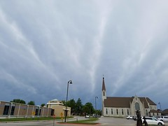 20190520_112938 (tomcomjr) Tags: samsung galaxy s7 clouds sky storm church white blue gray