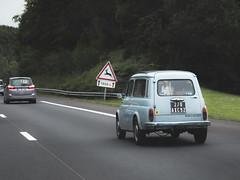Mangia la mia polvere (jolenetara) Tags: blue car vintage highway rode driving cars eatmydust travel france nikon nikond40x vehicle