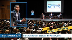 September 2018 - Signature Events Lecture: Ta-Nehisi Coates (hofstrauniversity) Tags: hofstrauniversity year review 2018 2019