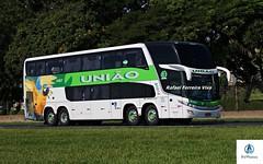 União - 4187 (RV Photos) Tags: uniãotransportes marcopolo marcopolog7 paradiso1800dd doubledecker turismo br16 rodoviapresidentedutra bus onibus