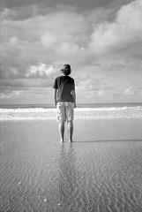 In the moment (spannerino) Tags: australia beach boy blackandwhite contrast film filmlives filmforever grain handprocessed ilfordlc29 kentmere400 monochrome nikon nikonosv nikonos outdoor outside person vintage vintagecamera 35mm 35mmcamera 35mmlens