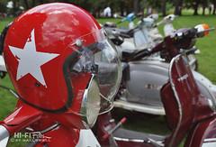 Star of the Show (Hi-Fi Fotos) Tags: scooter helmet vintage bike vespa lambretta italian antique pvgp show red star nikon d5000 dx hififotos hallewell