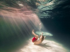 Falling (Elizabeth Sallee Bauer) Tags: active blue boy bubbles child childhood clean family floating fresh fun girl goggles hotel kid light playing pool summer swim swimming underwater water youth
