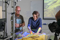 RESEARCH: Geological Sandbox with Christoph Schrank (QUT Science and Engineering Faculty) Tags: brisbane queensland australia sef science qut schoolofearthenvironmentalandbiologicalsciences eebs geology christophschrank leeconstable scope channel ten tv