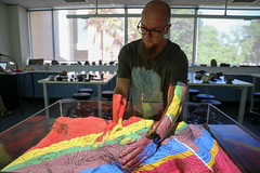 RESEARCH: Geological Sandbox with Christoph Schrank (QUT Science and Engineering Faculty) Tags: sef science qut schoolofearthenvironmentalandbiologicalsciences eebs geology christophschrank brisbane queensland australia leeconstable scope channel ten tv
