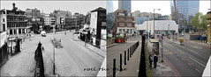 Blackfriars Road`1957-2019 (roll the dice) Tags: london southwark se1 mad surreal vanished demolished urban england classic uk art streetfurniture urinal architecture old changes collection retro bygone local history travel transport traffic bollards windows beer burnbros river thames canon tourism tourists nostalgia comparison oldandnew pastandpresent hereandnow corner bentruman advertising victorian motorbike helmet lights trees busstop invictaplaza