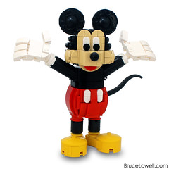 LEGO Mickey Mouse (bruceywan) Tags: lego moc brucelowellcom bruceywan brucelowell disney lowell sphere mickey mouse minnie lowellsphere