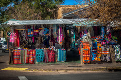 Shops along the Old Santa Fe Trail (donnieking1811) Tags: newmexico santafe oldsantafetrail shops clothes colorful street hdr canon 60d lightroom photomatixpro