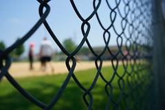 through the fence (cathyse97) Tags: fence softball diamond shapes through