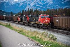 347 light engine (awstott) Tags: es44ac canadiannationalrailway cnr train cn locomotive 3809 generalelectric 2951 ge jasper alberta canada