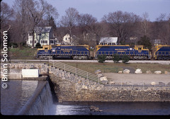 NECR_at_Eagleville_CT_April_11_1997_BrianSolomon_538546 (briansolomon.author) Tags: newenglandcentral dam eagleville connecticut freighttrain transport railfreight train locomotive