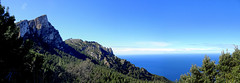 Serra de Tramuntana Panorama - Mallorca, ES (André-DD) Tags: wanderung hike panorama gebirge mountains mountain berg berge spanien spain mallorca majorca serradetramuntana baum bäume tree trees wolken wolke clouds cloud sky forest landscape mountainside wood sea water