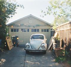Santa Clara, California (bior) Tags: lomography babydiana 110film colortiger california dianababy house santaclara driveway volkswagen bug vw beetle