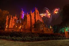 The Mansion and HEA (mwjw) Tags: magickingdom disney disneyworld orlando florida night nightshot longexposure mwjw markwalter nikond850 rokinon12mm hauntedmansion hea happilyeverafter fireworks