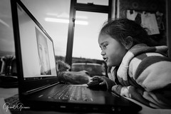 The Editor (Grant Grieve. Off the grid.) Tags: young assistant girl editorial comment wisdom images blackandwhite bnw monochrome kids