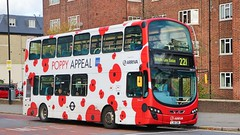 Arriva London - DW475 - LJ61CBX - Poppy Bus (Waterford_Man) Tags: dw475 lj61cbx wrightbus arrivalondon