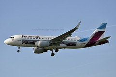 """Eurowings D-AEWS Airbus A320-214 Sharklets cn/7439 Painted in """"AVIS car hire"""" special colours 09-2018 @ EGLL / LHR 15-05-2019 (Nabil Molinari Photography) Tags: eurowings daews airbus a320214 sharklets cn7439 painted aviscarhire special colours 092018 egll lhr 15052019"""