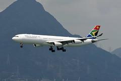 South African Airways Airbus A340-313 ZS-SXC (EK056) Tags: south african airways airbus a340313 zssxc hong kong chek lap kok airport