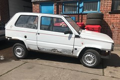 Panda Italia '90 (Sam Tait) Tags: restoration resto project repair spares petrol white car classic cool rare retro edition limited cup world football fifa 1990 '90 italia panda fiat