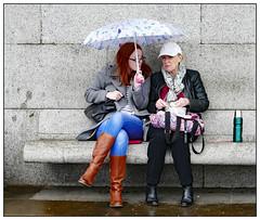 Soggy Sarnies (donbyatt) Tags: london people street candid trafalgarsquare bench