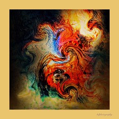 Elements (horstdoehler) Tags: artwork abstract elements fire water wallpaper
