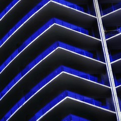 Blue Balconies (2n2907) Tags: abstract architecture photo glass windows building skyscraper graphic geometric geometry pattern lines graphical balconies blue olympus omd mirrorless