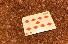 Nine of Diamonds (Raoul's Photos) Tags: playingcard nineofdiamonds diamonds nine card lost