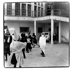 carnival (Photo Trouvée) Tags: blackandwhite bw mediumformat gelatinsilverprint children 50s anni50 italia italian vintage analog zeissicon montesilvano stellamaris