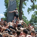Naval Academy freshmen climb the Herndon Monument.