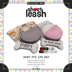 .:Short Leash:. May Group Gift (Short Leash // original mesh & virtual kink) Tags: shortleash secondlife groupgift freebie decor wearables puppyplay puppy leatherpup redremora kawaii afk