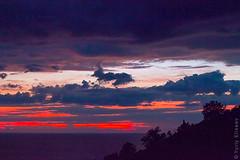 Battle in the dusk (yuriye) Tags: battle dusk sky cloud landscape seaside seascape albania dhermi dhërmiu nature природа силуэт небо сумерки облака битва контраст contrast mediterranean море горизонт линия silhouette
