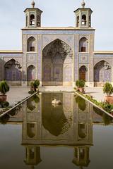 Reflet (hubertguyon) Tags: iran perse persia asie asia moyen proche orient middle east chiraz shiraz ville city mosquée mosque rose pink nasiralmolk