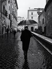 A Wet Day in Rome (Feldore) Tags: rome street candid rain raining pantheon umbrella wet italy feldore mchugh em1 olympus 1240mm