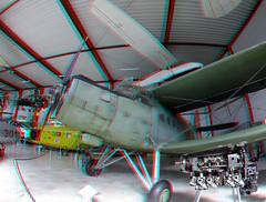 Flugausstellung Hermeskeil 3D GoPro (wim hoppenbrouwers) Tags: flugausstellung hermeskeil 3d gopro anaglyph stereo redcyan vliegtuig aircraft
