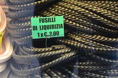 Fusilli di Liquirizia (Joe Shlabotnik) Tags: sign italia april2019 2019 venezia licorice venice italy afsdxvrzoomnikkor18105mmf3556ged