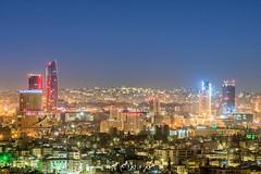 عمان مساءً من منطقة جبل الزهور (ebrahemhabibeh) Tags: