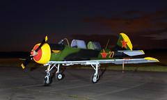 Яковлев Як-52 (Treflyn) Tags: яковлев як52 yakovlev yak52 gyakx under lights airfield threshold aero night shoot evening before 2019 abingdon air country show