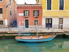 Boat On Rio Marin (Joe Shlabotnik) Tags: galaxys9 italia april2019 cameraphone boat venezia canal 2019 venice italy
