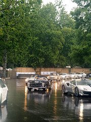 German Invasion (Mattia Manzini Photography) Tags: mercedes benz amg sls black gtr slr mclaren roadster 722s slk modena italy italia millemiglia mercedestribute supercar supercars cars car carspotting nikon d750 rain v8 v10 grey green