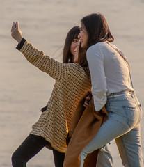 Selfies (tramsteer) Tags: tramsteer selfy camera phone japanese women girls batterypoint portishead bristolchannel