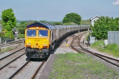The Draxster (JohnGreyTurner) Tags: br rail uk railway train transport diesel engine locomotive freight 66 class66 shed coal hoppers barnetby lincolnshire