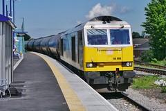 Off to Bury the King (JohnGreyTurner) Tags: br rail uk railway train transport diesel engine locomotive freight db dbc dbs ews 60 class60 tug tanks barnetby lincolnshire