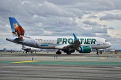 'SFrontier Airlines 2018 Airbus 320neo N328FR c/n 8118 at San Francisco Airport 2019. (17crossfeed) Tags: frontierairlines n328fr 8118 sfo sanfranciscoairport airport aviation aircraft airplane airbus scoutthepinemarten 320 319 380 350 americanairlines claytoneddy 17crossfeed landing lufthansa flying flight flightattendant pilot planespotting plane